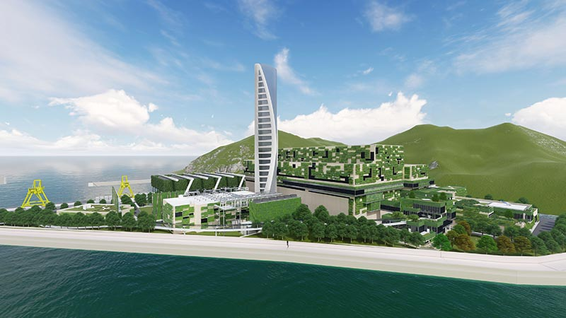 Artist's impression of Hong Kong's first Integrated Waste Management Facility (IWMF)